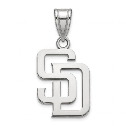 San Diego Padres Sterling Silver Medium Pendant