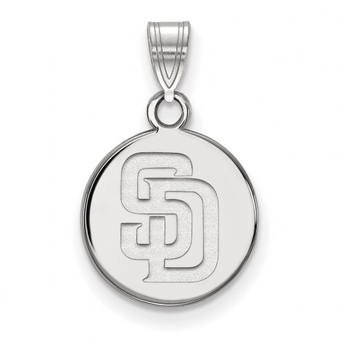 San Diego Padres Sterling Silver Small Disc Pendant