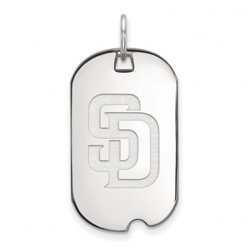 San Diego Padres Sterling Silver Small Dog Tag