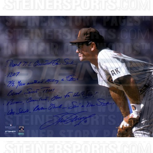 San Diego Padres Steve Garvey Stands Ready Signed 16 x 20 Story Photo