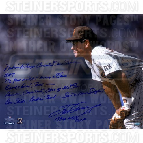 """San Diego Padres Steve Garvey Stands Ready Story Signed 16"""" x 20"""" Photo"""