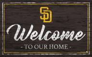 San Diego Padres Team Color Welcome Sign