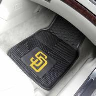 San Diego Padres Vinyl 2-Piece Car Floor Mats