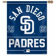 """San Diego Padres 27"""" x 37"""" Banner"""