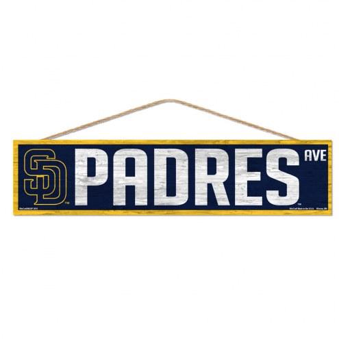 San Diego Padres Wood Avenue Sign