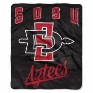 San Diego State Aztecs Alumni Raschel Throw Blanket