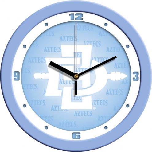 San Diego State Aztecs Baby Blue Wall Clock