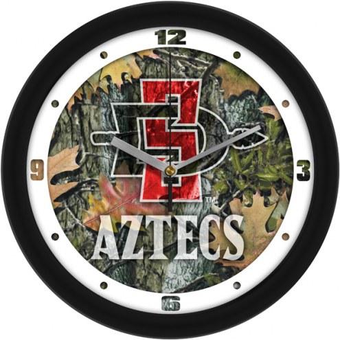 San Diego State Aztecs Camo Wall Clock