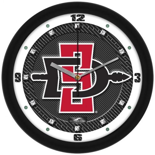 San Diego State Aztecs Carbon Fiber Wall Clock