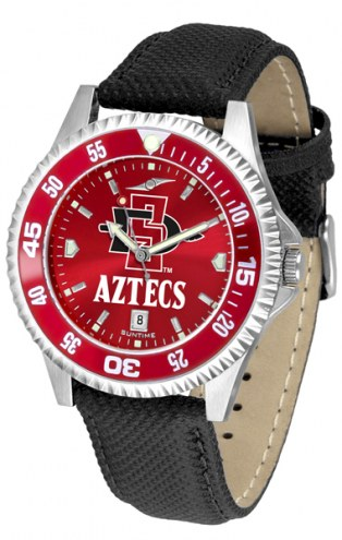 San Diego State Aztecs Competitor AnoChrome Men's Watch - Color Bezel