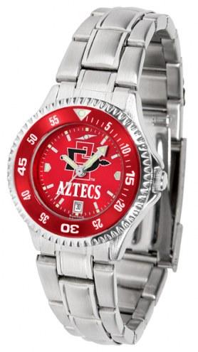 San Diego State Aztecs Competitor Steel AnoChrome Women's Watch - Color Bezel