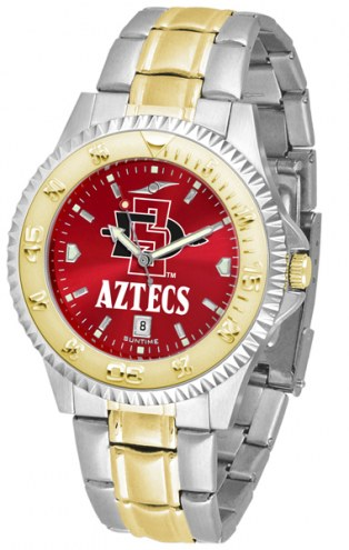 San Diego State Aztecs Competitor Two-Tone AnoChrome Men's Watch