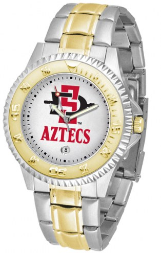 San Diego State Aztecs Competitor Two-Tone Men's Watch