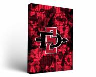 San Diego State Aztecs Fight Song Canvas Wall Art