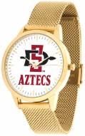 San Diego State Aztecs Gold Mesh Statement Watch