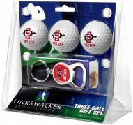 San Diego State Aztecs Golf Ball Gift Pack with Key Chain