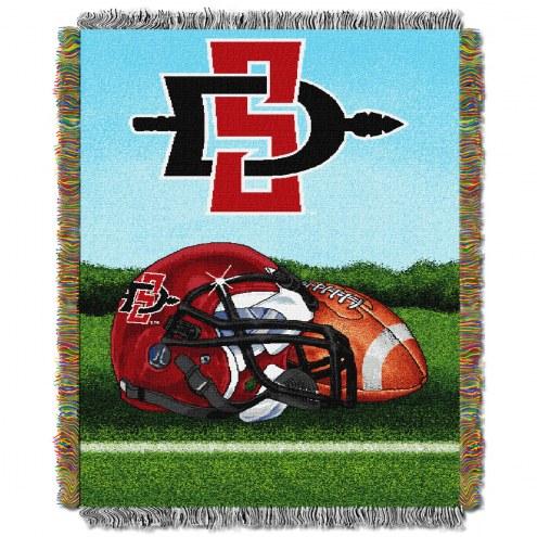 San Diego State Aztecs Home Field Advantage Throw Blanket