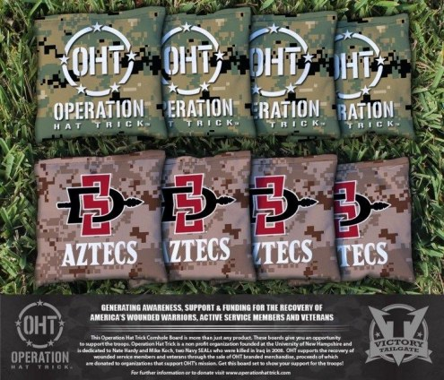 San Diego State Aztecs Operation Hat Trick Cornhole Bag Set
