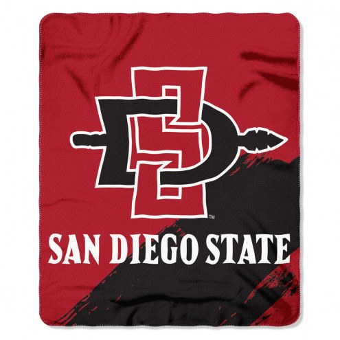 San Diego State Aztecs Painted Fleece Blanket