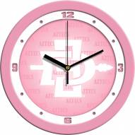 San Diego State Aztecs Pink Wall Clock