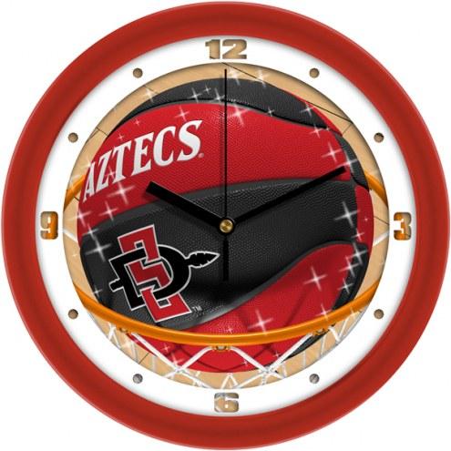 San Diego State Aztecs Slam Dunk Wall Clock