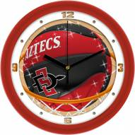 San Diego State Aztecs Slam Dunk Wall Clock
