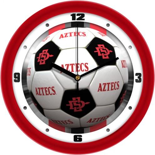 San Diego State Aztecs Soccer Wall Clock