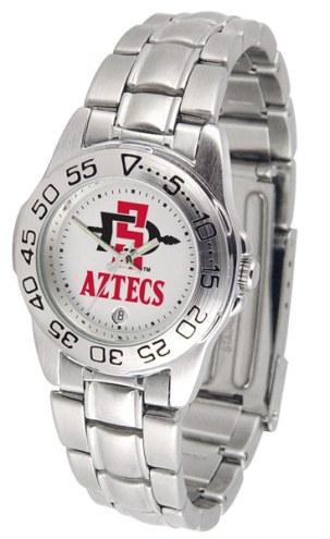 San Diego State Aztecs Sport Steel Women's Watch