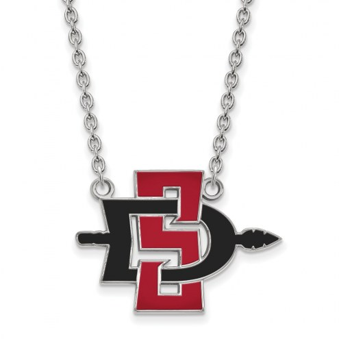 San Diego State Aztecs Sterling Silver Large Pendant Necklace