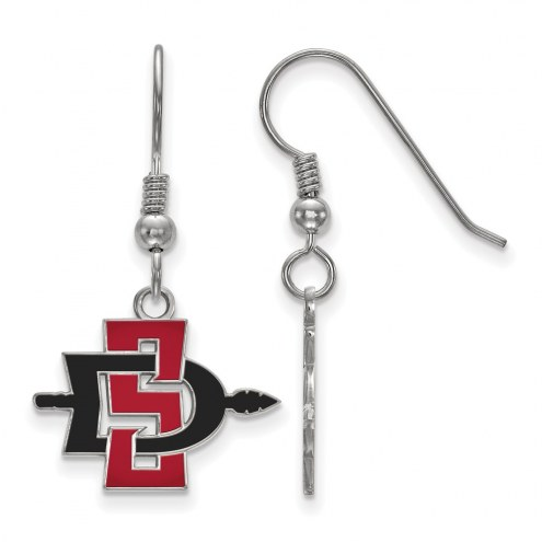 San Diego State Aztecs Sterling Silver Small Dangle Earrings