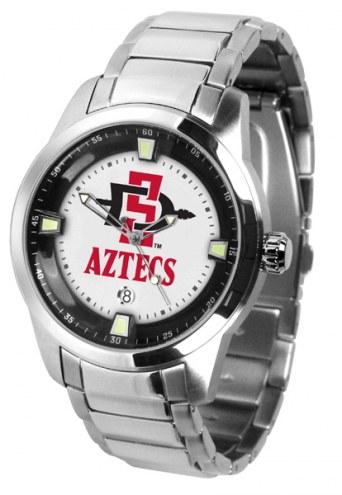 San Diego State Aztecs Titan Steel Men's Watch