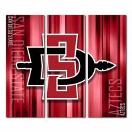 San Diego State Aztecs Triptych Rush Canvas Wall Art