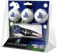 San Diego Toreros Black Crosshair Divot Tool & 3 Golf Ball Gift Pack