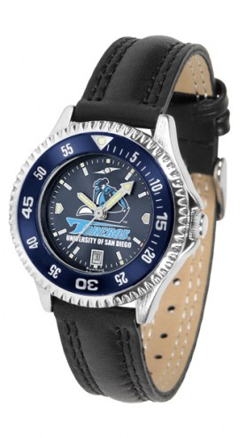 San Diego Toreros Competitor AnoChrome Women's Watch - Color Bezel