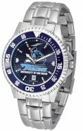 San Diego Toreros Competitor Steel AnoChrome Color Bezel Men's Watch