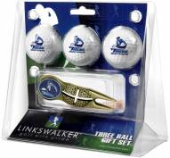 San Diego Toreros Gold Crosshair Divot Tool & 3 Golf Ball Gift Pack