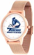 San Diego Toreros Rose Mesh Statement Watch
