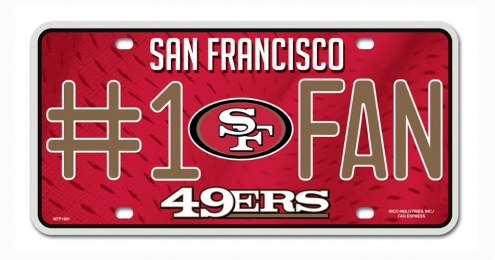 San Francisco 49ers #1 Fan License Plate