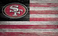"San Francisco 49ers 11"" x 19"" Distressed Flag Sign"