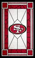 "San Francisco 49ers 11"" x 19"" Stained Glass Sign"