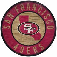 "San Francisco 49ers 12"" Circle with State Sign"