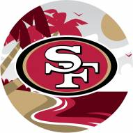 "San Francisco 49ers 12"" Landscape Circle Sign"