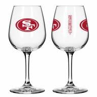 San Francisco 49ers 12 oz. Gameday Stemmed Wine Glass