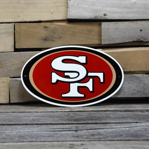 "San Francisco 49ers 12"" Steel Logo Sign"