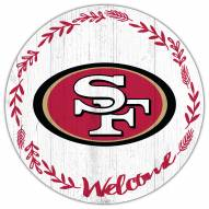 "San Francisco 49ers 12"" Welcome Circle Sign"