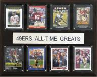 """San Francisco 49ers 12"""" x 15"""" All-Time Greats Plaque"""