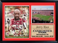 "San Francisco 49ers 12"" x 18"" Jerry Rice Photo Stat Frame"