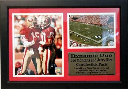 "San Francisco 49ers 12"" x 18"" Joe Montana/Jerry Rice Photo Stat Frame"