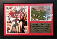 "San Francisco 49ers 12"" x 18"" Joe Montana/Jerry Rice Photo Stat Frame"