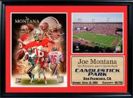 "San Francisco 49ers 12"" x 18"" Joe Montana Photo Stat Frame"